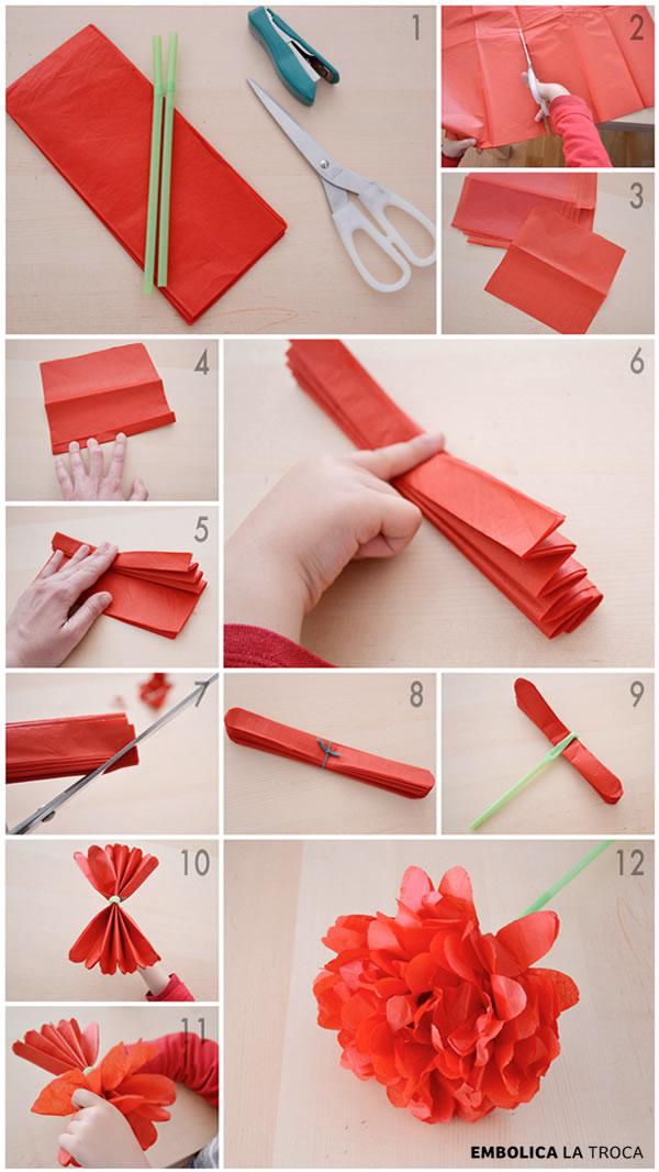 Manualidad Como Hacer Una Rosa De Papel Super Facil