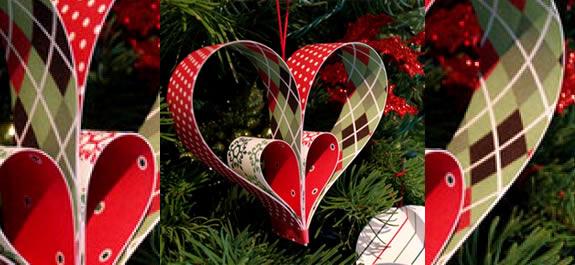 Worksheet. Manualidad Corazones de papel para decorar el rbol de Navidad