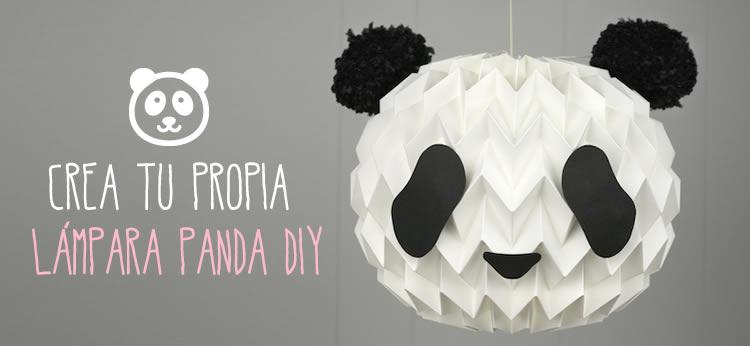 Crea tu propia lámpara Panda DIY