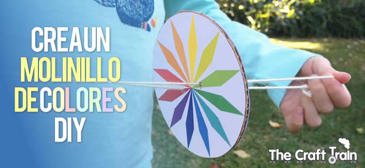 Creamos un Molinillo de Colores giratorio DIY