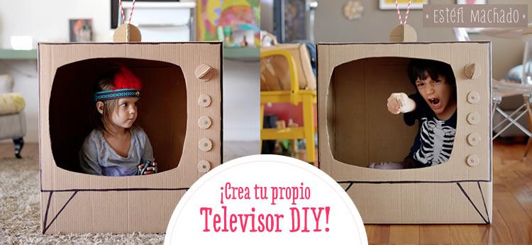 Creamos una TV de cartón DIY para jugar a ser presentadores
