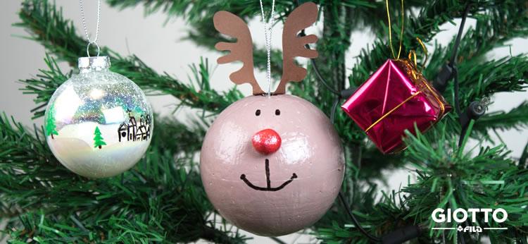 Creamos unas bonitas bolas de Navidad DIY