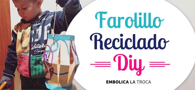 Farolillo de cartón reciclado DIY