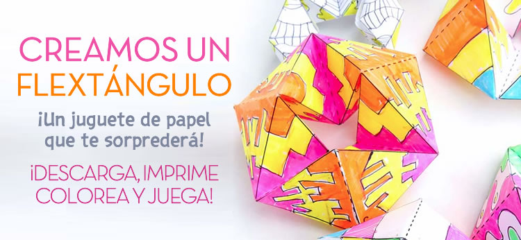 Flextangle, el juguete de papel que te sorprenderá