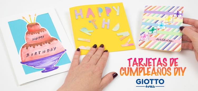 Ideas originales para Tarjetas de Cumpleaños DIY