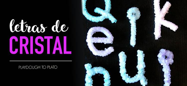 Letras de cristal DIY para decorar