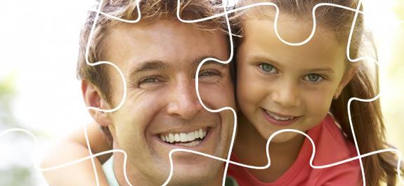 Manualidades para el Día del Padre: ¡Un puzle con foto muy familiar!