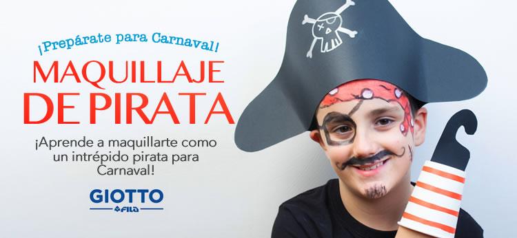 Maquillaje de Pirata fácil para Carnaval