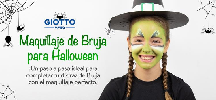 Maquillaje infantil de Bruja para Halloween