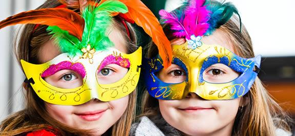 Máscaras de Carnaval para pintar y recortar
