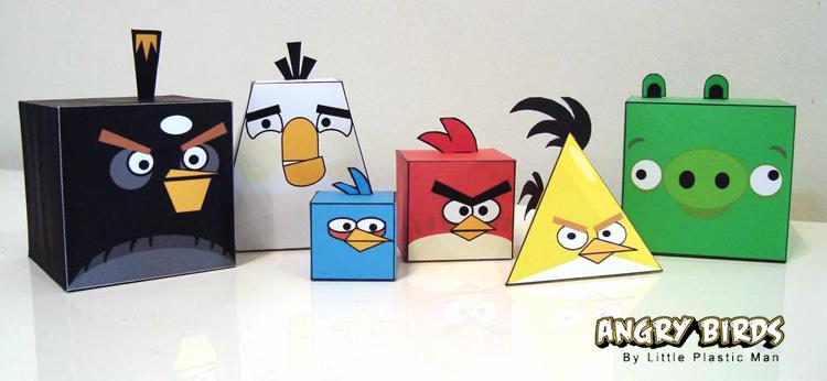 Monta los muñecos de Angry Birds con 5 recortables de papel