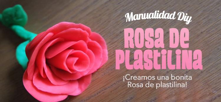 Rosa de plastilina para Sant Jordi