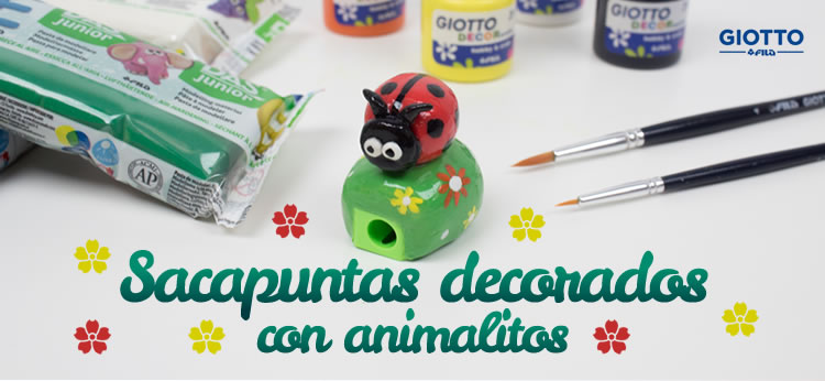 Sacapuntas decorados con animalitos