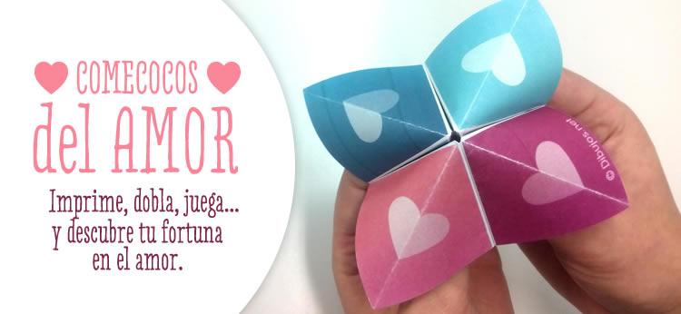 Un Comecocos del Amor para Imprimir y jugar