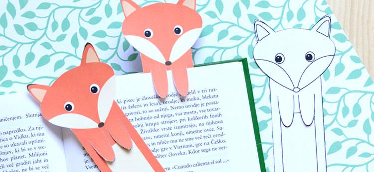 Un punto de libro DIY para imprimir, colorear y recortar