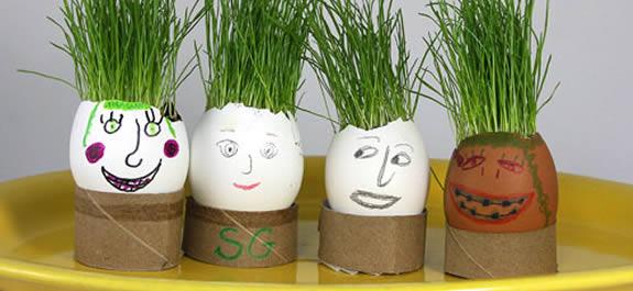 Una de manualidades: Huevos con cabellos