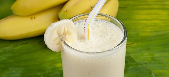 Batido de plátano natural