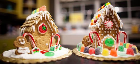 Casita de pan de jengibre de Navidad