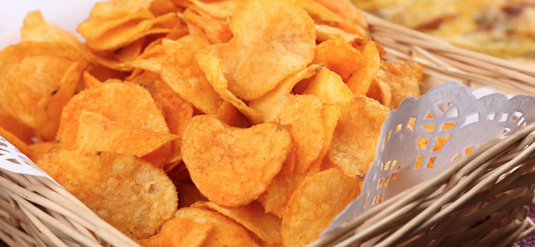 Chips de boniato crujientes