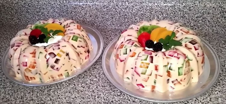Gelatina de Mosaico con leche condensada - Recetas para postres en ...