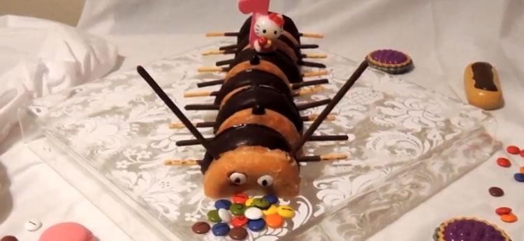 Gusanos de Donuts para fiestas