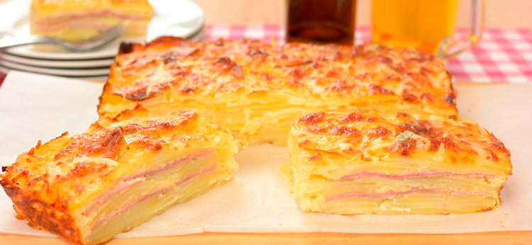 Pastel de patata con Jamón y Queso