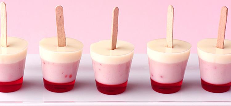 Polos de gelatina para niños