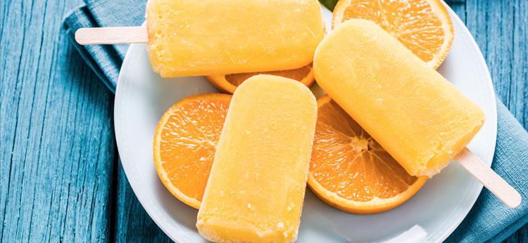 Polos de naranja caseros