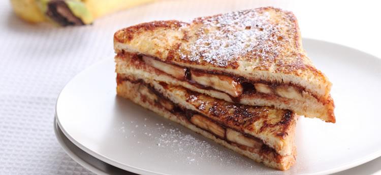 Sándwich de plátano y chocolate