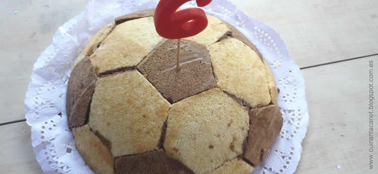 Tarta Balón de Fútbol de chocolate