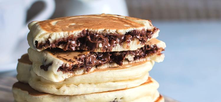 Tortitas rellenas de nutella o nocilla