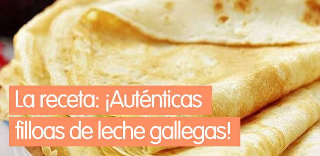 Filloas de leche gallegas