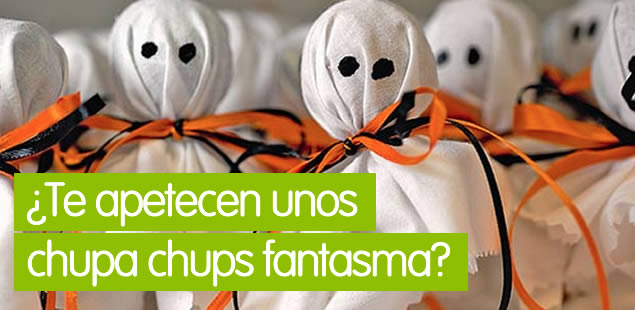 Chupa Cups fantasma para Halloween