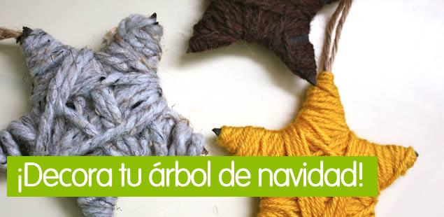 Estrellas de navidad DIY con lana de colores