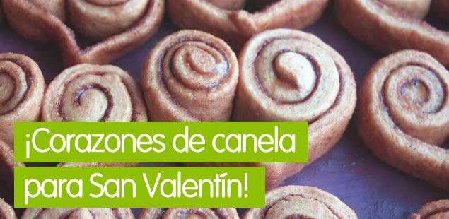 Rollitos de canela San Valentín
