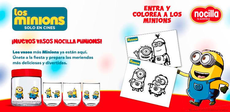 Colorea a los Minions con Nocilla y Dibujos.net