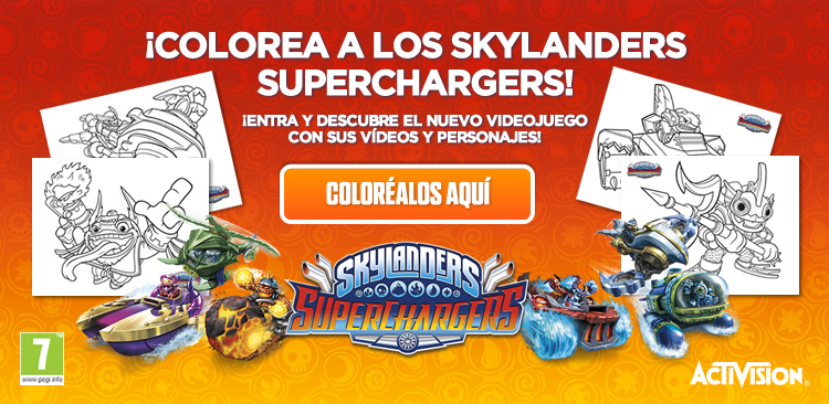 Colorea a los Skylanders Superchargers