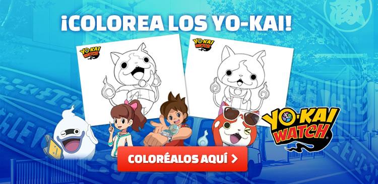 ¡Colorea a los Yo-Kai!