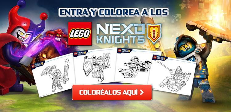 Entra y colorea a los LEGO NEXO KNIGHTS