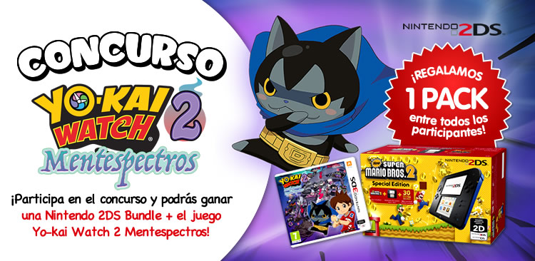 Concurso Yo-kai Watch 2 Mentespectros