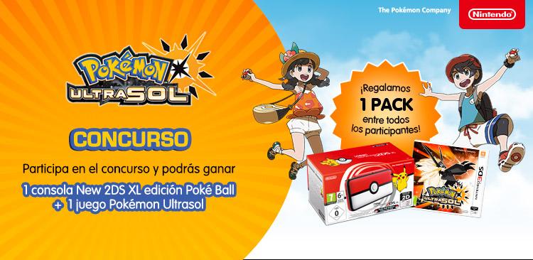 ¡CONCURSAZO! ¡Regalamos 1 Consola Nintendo New 2DS XL edición Poké Ball + un juego Pokémon Ultrasol!