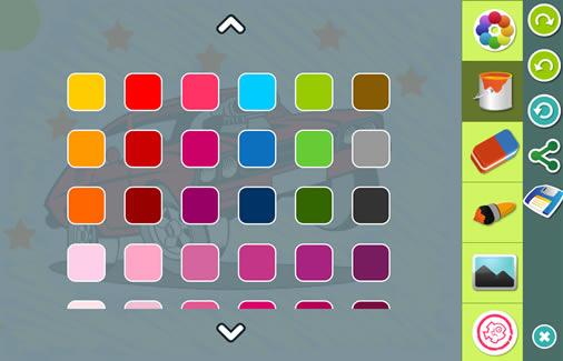 App de Dibujos de Coches para colorear