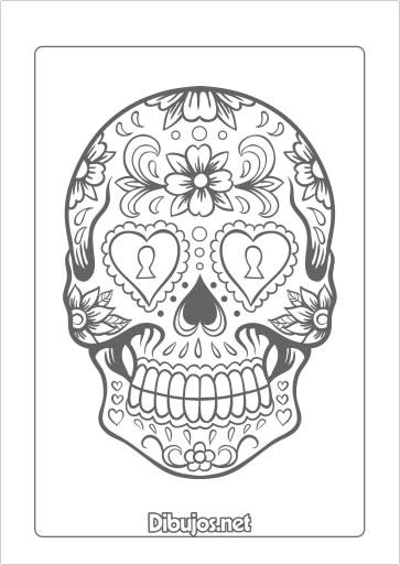 8 Dibujos del Día de los Muertos para Imprimir y Colorear - Dibujos.net