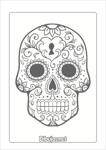 8 Dibujos Del Día De Los Muertos Para Imprimir Y Colorear Dibujosnet