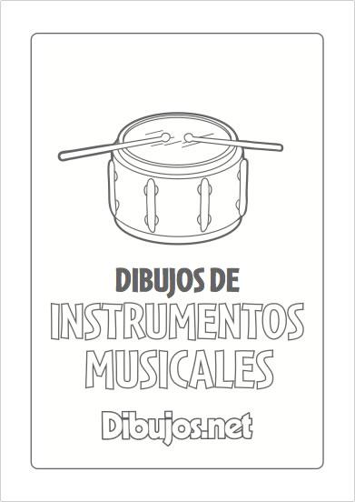 10 Dibujos de Instrumentos Musicales para imprimir y colorear ...