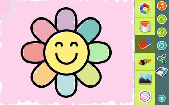App de Dibujos de Flores para colorear