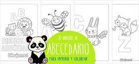 Aprende las letras del Abecedario con el descargable para colorear de Dibujos.net