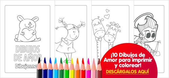 10 Dibujos de Amor para imprimir y colorear