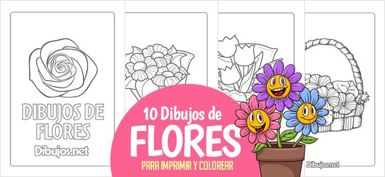 10 Dibujos de Flores para imprimir y colorear - Dibujos.net