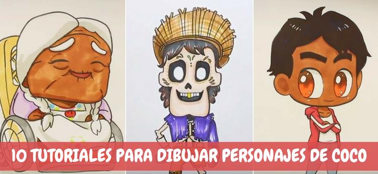 10 tutoriales para dibujar personajes de Coco